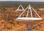 Antennas of CSIRO's ASKAP telescope. Photo: Ant Schinckel, CSIRO